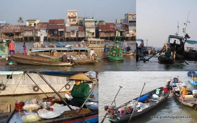 The incredible Cai Rang floating market.