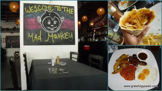 Tasty grub at the Mad Monkey.