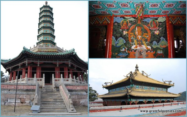 Some scenes of the Puning temple.