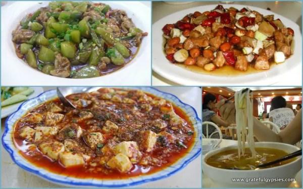 Delicious Sichuan cuisine.