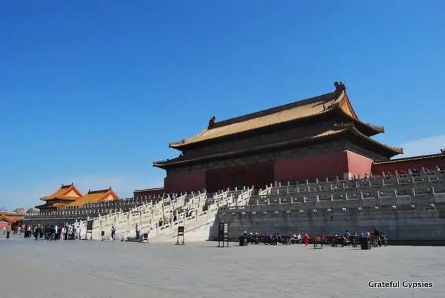 The massive Forbidden City.