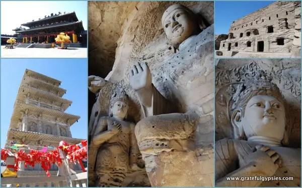 The Yungang Grottoes of Datong.