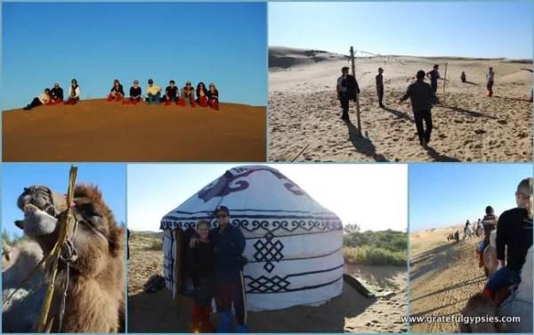 In the desert of Inner Mongolia.