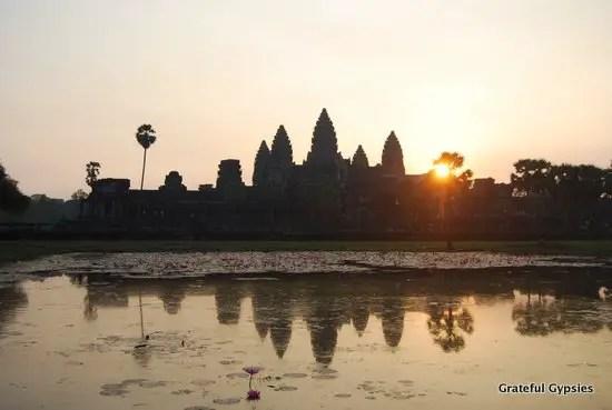 Standard Angkor Wat sunrise pic.