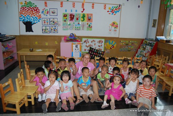 A typical Chinese kindergarten class.