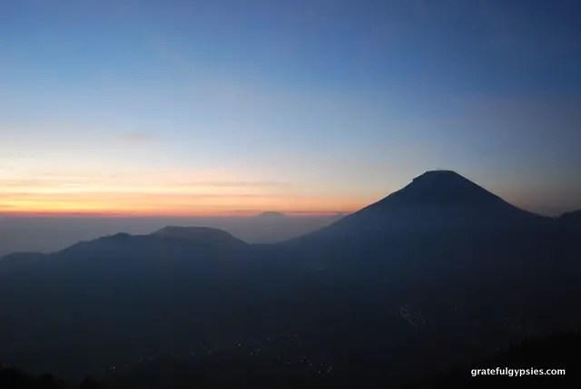 Dieng Plateau sunrise.