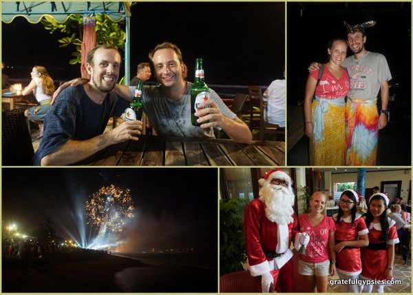 Christmas and NYE celebrations in Bali.