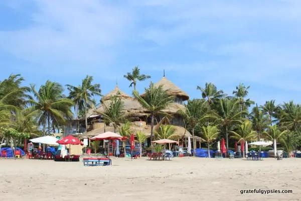 Beautiful Bali scenery in Legian.