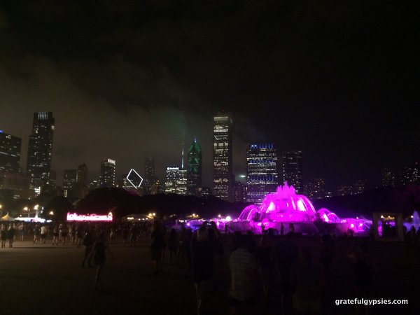 Nighttime in Grant Park.