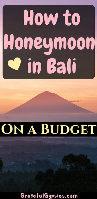 honeymoon in Bali on budget