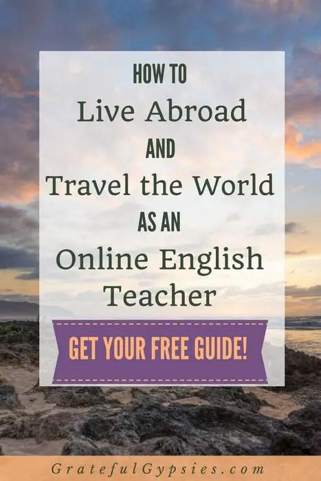 travel jobs | teach English online | teaching English | online | digital nomad lifestyle | digital nomad | how to teach English online | free guide | digital nomad jobs