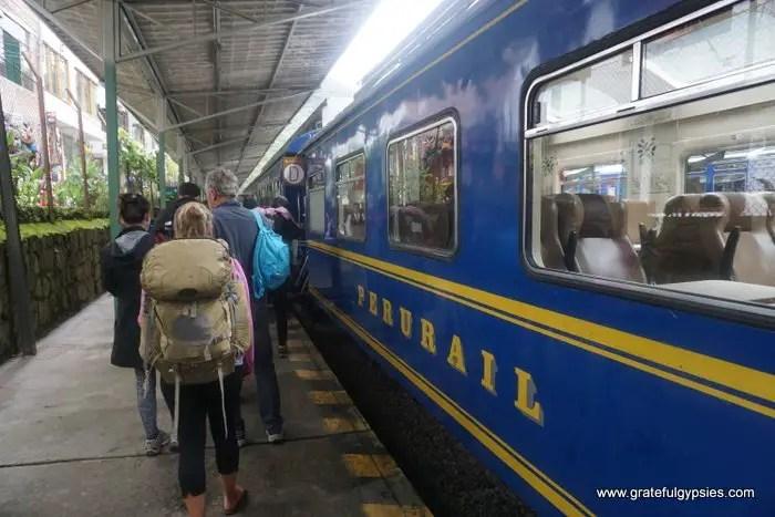 Jungle Trek to Machu Picchu train