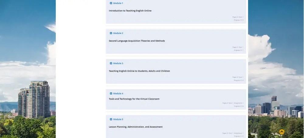 online tefl course BridgeTEFL Foundations course modules