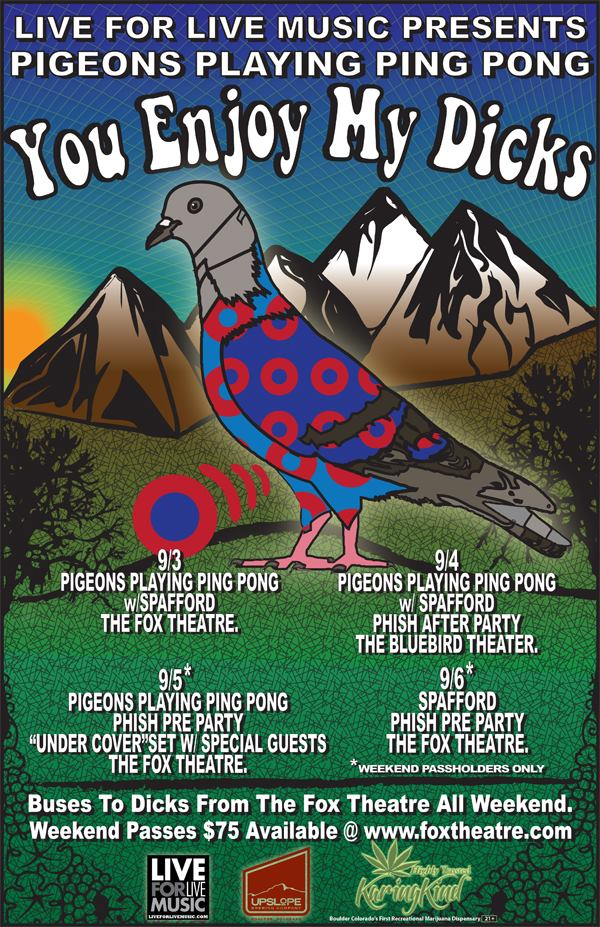 pigeons playing ping pong announces