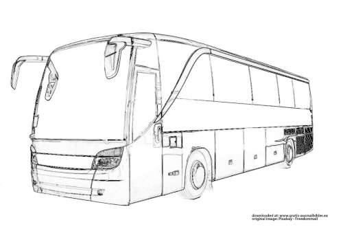 Bus Malvorlage