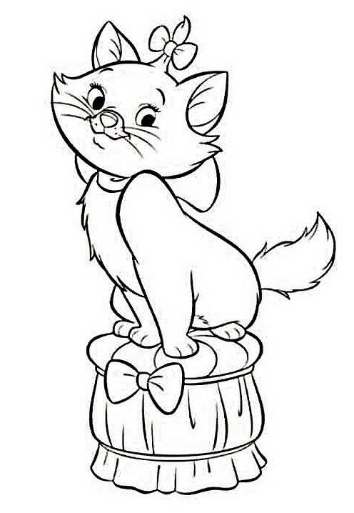 Disegni Di Gatti Da Colorare E Stampare