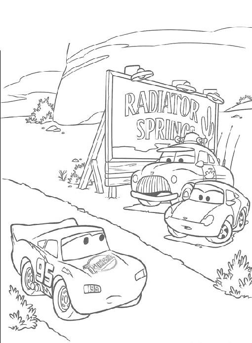 Cars Guido In Officina Da Stampare E Colorare
