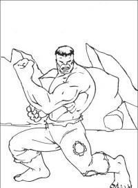 Hulk da colorare | Disegni Gratis