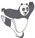 calcio volante kung fu panda disegno da colorare