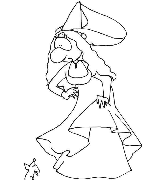 Disegno Della Principessa Rapunzel Bambina Da Stampare Gratis E