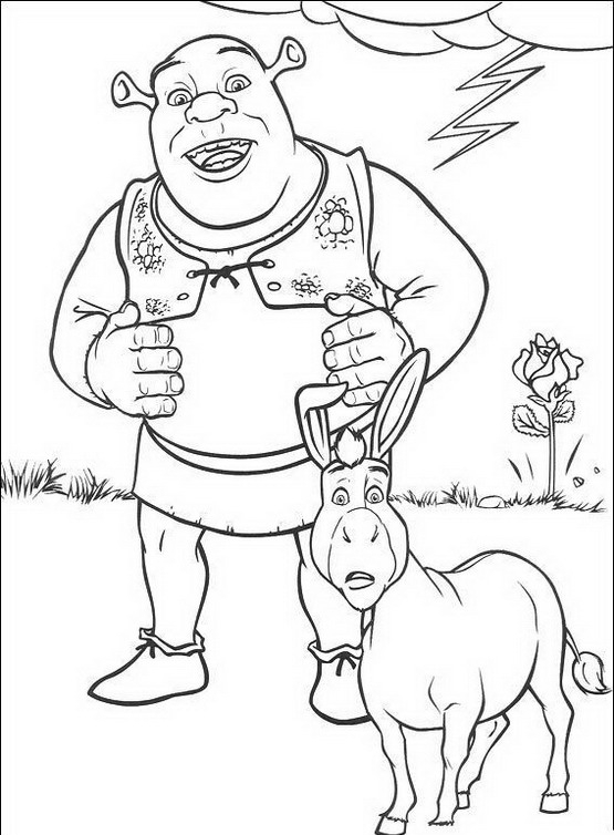 Donkey Clipart Coloring Page