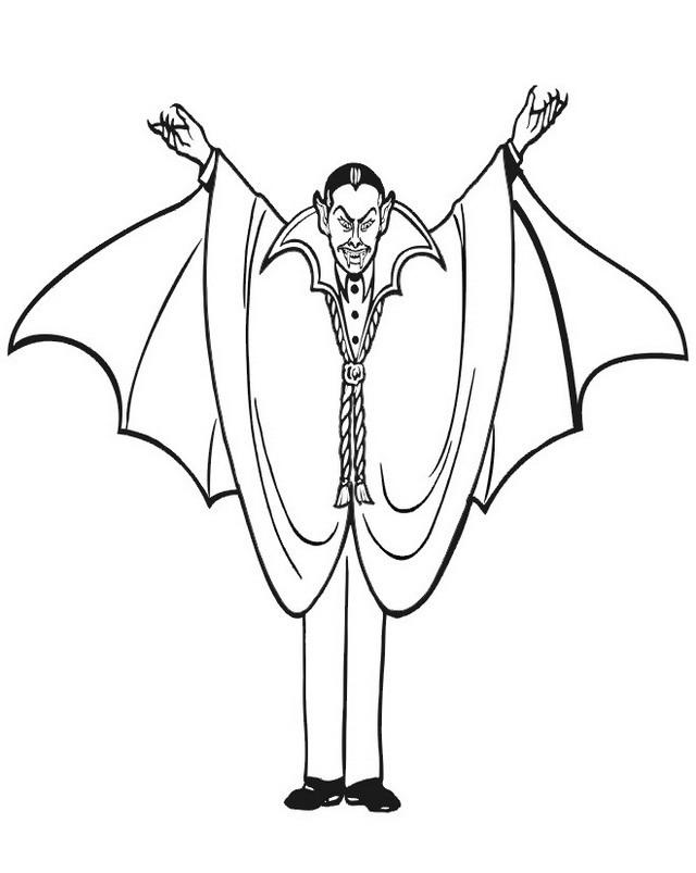 Dibujos De Dracula Para Colorear