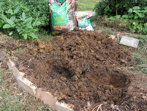 In-ground clay planter: dig down at least 8 inches.