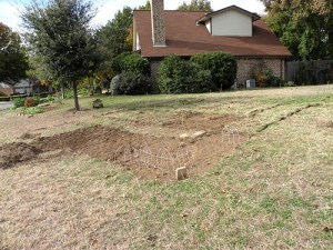 November 2013, in the bleak time prior to the creation of the wildflower garden.