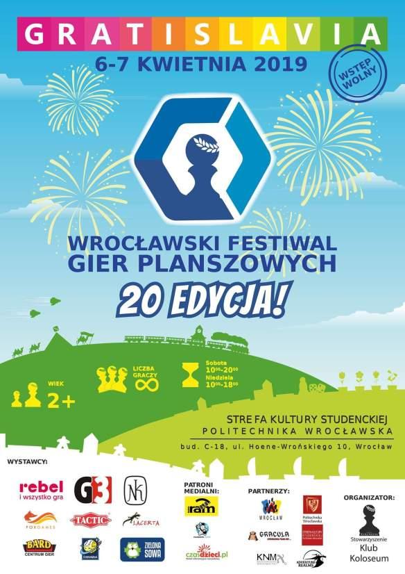 Plakat Gratislavia XX, 20 edycja 6-7 kwietnia 2019