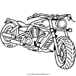 Malvorlage Harley Davidson
