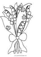 Maiglockchen gratis Malvorlage in Blumen, Natur   ausmalen