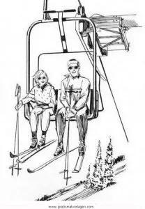 Ski Malvorlage
