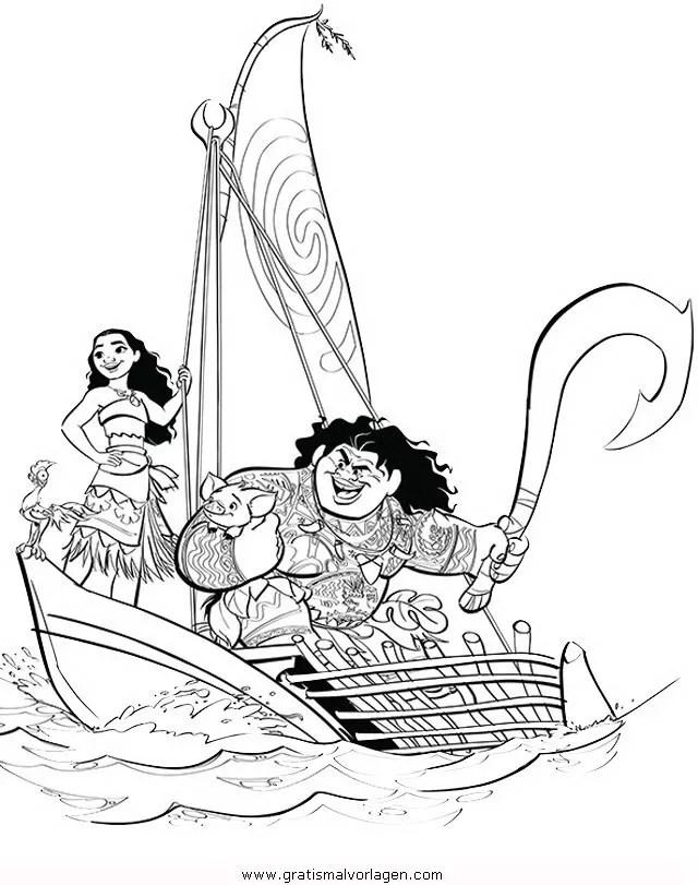 Vaiana 03 gratis Malvorlage in Comic & Trickfilmfiguren