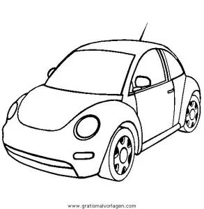 Volkswagen Beetle gratis Malvorlage in Autos