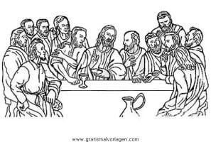 abendmahl 02 gratis Malvorlage in Jesus, Religionen   ausmalen