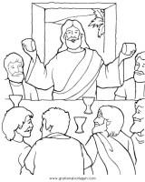 abendmahl 03 gratis Malvorlage in Jesus, Religionen   ausmalen