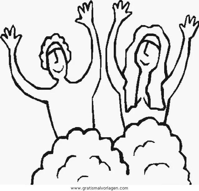 Adam eva 02 gratis Malvorlage in Adam & Eva Religionen