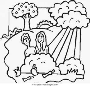 Adam eva 10 gratis Malvorlage in Adam & Eva Religionen