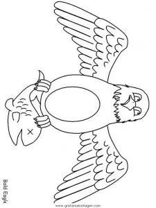 Adler 01 gratis Malvorlage in Adler Tiere - ausmalen