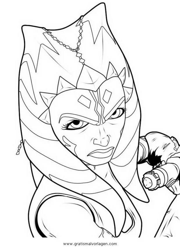 ahsoka Tano 09 gratis Malvorlage in Science Fiction, Star
