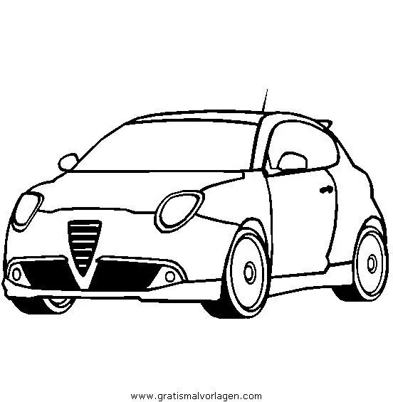 alfa romeo mito gratis Malvorlage in Autos