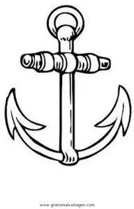 Anker 1 gratis Malvorlage in Schiffe Transportmittel