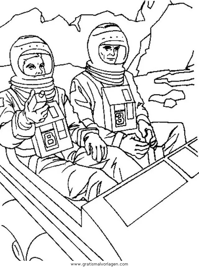 Astronauten 58 gratis Malvorlage in Astronauten Science