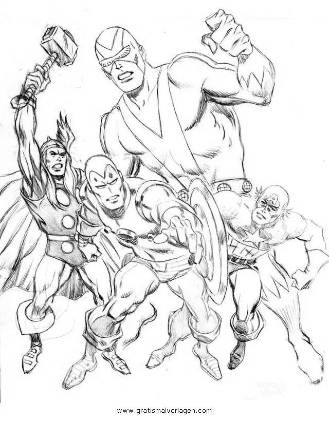 Avengers 00 gratis Malvorlage in Avengers Comic