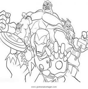Avengers 07 gratis Malvorlage in Avengers Comic