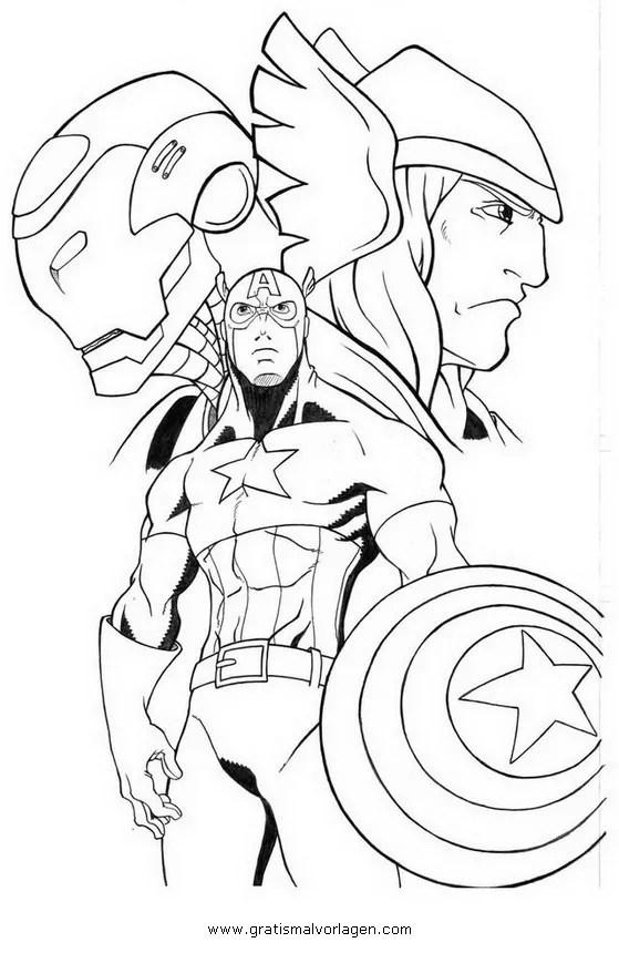 Avengers 10 gratis Malvorlage in Avengers Comic