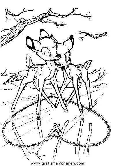 Bambi01 gratis Malvorlage in Bambi Comic