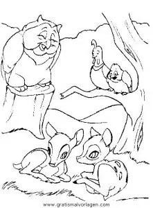 Bambi02 gratis Malvorlage in Bambi Comic