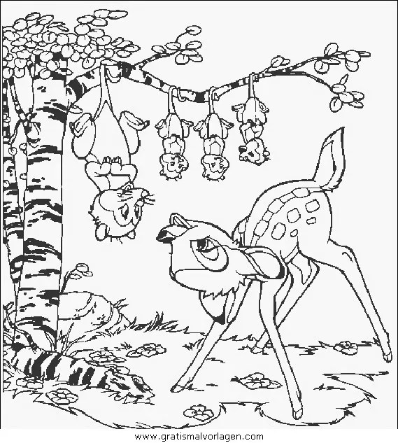 Bambi39 gratis Malvorlage in Bambi Comic
