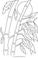 Bambus 2 gratis Malvorlage in Kräuter, Natur   ausmalen